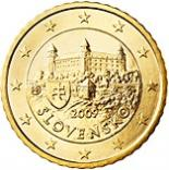 50 cents (other side, country Slovakia) 0.5
